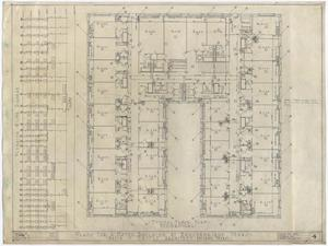 Primary view of object titled 'Hotel Building, Breckenridge, Texas: Typical Mechanical Floor Plan'.