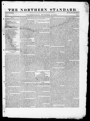 Primary view of object titled 'The Northern Standard. (Clarksville, Tex.), Vol. 1, No. 7, Ed. 1, Saturday, October 1, 1842'.