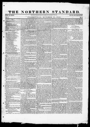 Primary view of object titled 'The Northern Standard. (Clarksville, Tex.), Vol. 1, No. 8, Ed. 1, Saturday, October 15, 1842'.