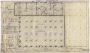 Primary view of object titled 'Hotel Building, Breckenridge, Texas: Foundation and Basement Plan'.