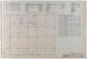 Primary view of object titled 'Abilene Medical & Surgical Clinic Office, Abilene, Texas: Typical Floor Framing Plan'.