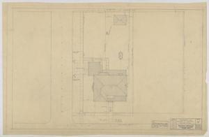 Primary view of object titled 'Sheppard Residence, Abilene, Texas: Plot Plan'.