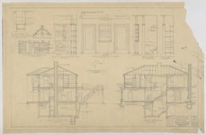 Primary view of object titled 'Sheppard Residence, Abilene, Texas: Cross Sections'.