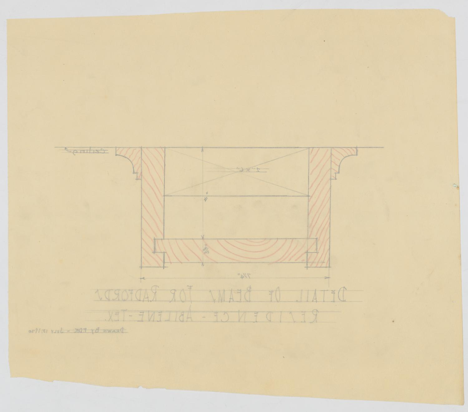 Radford Residence Addition, Abilene, Texas: Beams                                                                                                      [Sequence #]: 2 of 2