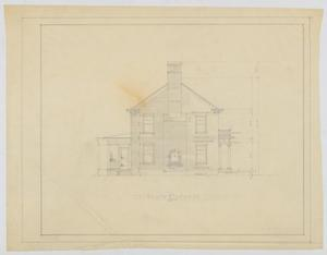 Primary view of object titled 'Oldham Residence, Abilene, Texas: North Elevation'.