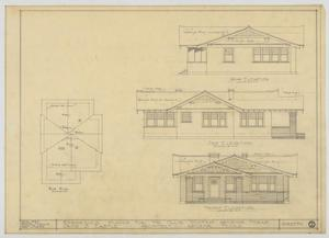 Primary view of object titled 'Wooten Residence, Abilene, Texas: Roof Plan and Elevations'.