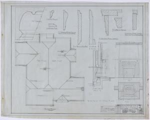 Primary view of object titled 'Over Residence, Abilene, Texas: Roof Plan and Details'.