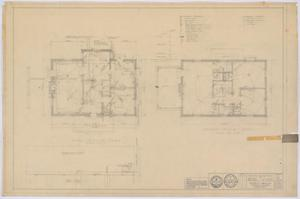 Primary view of object titled 'McMurry College President's Home, Abilene, Texas: First and Second Floor Mechanics'.