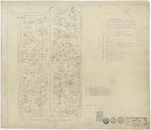"Primary view of object titled 'The Professional Building, Abilene, Texas: Area ""A"" Electrical Plan'."