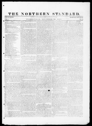 Primary view of object titled 'The Northern Standard. (Clarksville, Tex.), Vol. 1, No. 12, Ed. 1, Saturday, November 26, 1842'.
