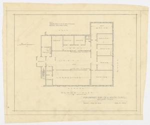 Primary view of object titled 'Health Clinic, Abilene, Texas: Floor Plan'.