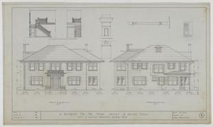 Primary view of object titled 'Sayles Residence, Abilene, Texas: Elevations'.
