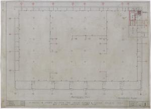 Primary view of object titled 'Radford Hotel, Abilene, Texas: Foundation and Mechanical Plan'.