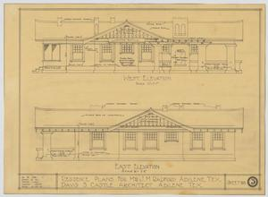Primary view of object titled 'Radford Residence, Abilene, Texas: West and East Elevation'.