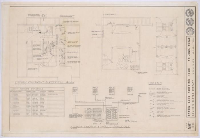 Green Oaks Nursing Home, Abilene, Texas: Electrical Plans - The ...