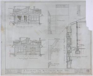 Primary view of object titled 'Paxton Residence, Abilene, Texas: Elevations and Details'.