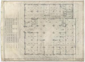 Primary view of object titled 'Hotel Building, Breckenridge, Texas: First Floor Mechanical Plan'.
