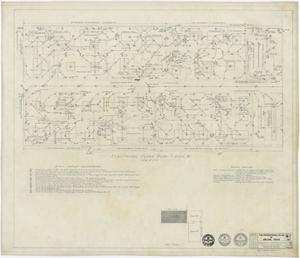 "Primary view of object titled 'The Professional Building, Abilene, Texas: Area ""B"" Electrical Plan'."