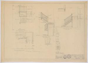 Primary view of object titled 'McMurry College President's Home, Abilene, Texas: Stair Details'.