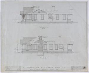Primary view of object titled 'Paxton Residence, Abilene, Texas: Elevations'.