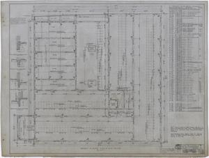 Primary view of object titled 'Ada McLemore's Hotel, Albany, Texas: Second Floor Framing Plan'.