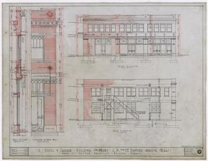Primary view of object titled 'Radford Hotel, Abilene, Texas: Front and Rear Elevation'.