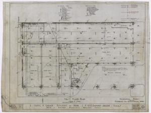 Primary view of object titled 'Radford Hotel, Abilene, Texas: Mechanical Plan for the First Level'.