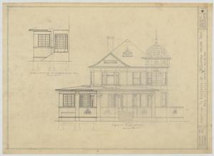 Primary view of object titled 'Radford Residence Addition, Abilene, Texas: Front Elevation'.