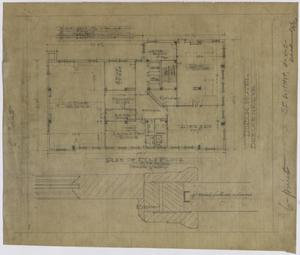 Primary view of object titled 'Hotel Building, Breckenridge, Texas: First Floor Plan'.