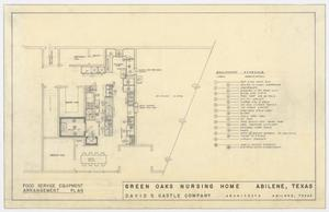 Primary view of object titled 'Green Oaks Nursing Home, Abilene, Texas: Food Service Equipment Arrangement Plan'.