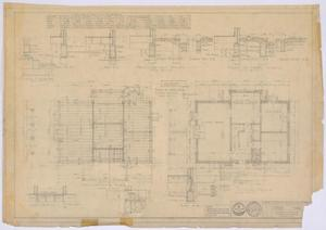Primary view of object titled 'McMurry College President's Home, Abilene, Texas: First Floor and Foundation Plans'.