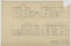 Primary view of object titled 'Sheppard Residence, Abilene, Texas: Home Elevations'.