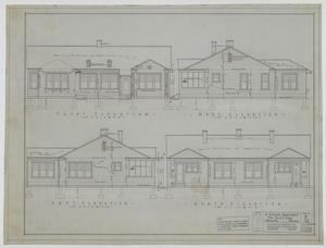 Primary view of object titled 'Pope Duplex, Abilene, Texas: Elevations'.