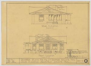 Primary view of object titled 'Radford Residence, Abilene, Texas: Front and Rear Elevation'.