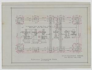 Primary view of object titled 'Stith Residence, Abilene, Texas: Revised Foundation Plan'.