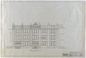 Primary view of object titled 'Abilene Medical & Surgical Clinic Office, Abilene, Texas: Third Street Elevation'.