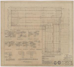 Primary view of object titled 'The Professional Building, Abilene, Texas: Roof Framing Plan'.