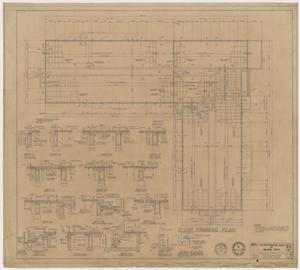 Primary view of object titled 'The Professional Building, Abilene, Texas: Floor Framing Plan'.