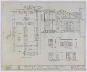 Primary view of object titled 'Paxton Residence, Abilene, Texas: Foundation Plan'.