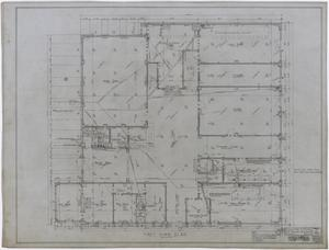 Primary view of object titled 'Ada McLemore's Hotel, Albany, Texas: First Floor Plan'.