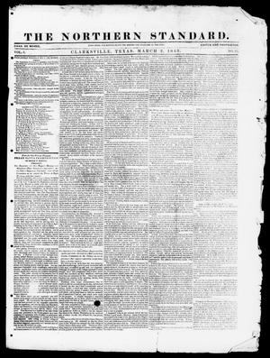 The Northern Standard. (Clarksville, Tex.), Vol. 1, No. 25, Ed. 1, Thursday, March 2, 1843