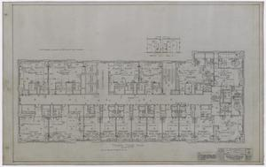 Primary view of object titled 'Wooten Hotel, Abilene, Texas: Fourth Level Floor Plan'.