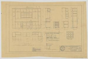 Primary view of object titled 'McMurry College President's Home, Abilene, Texas: Elevation and Kitchen Cabinet Details'.