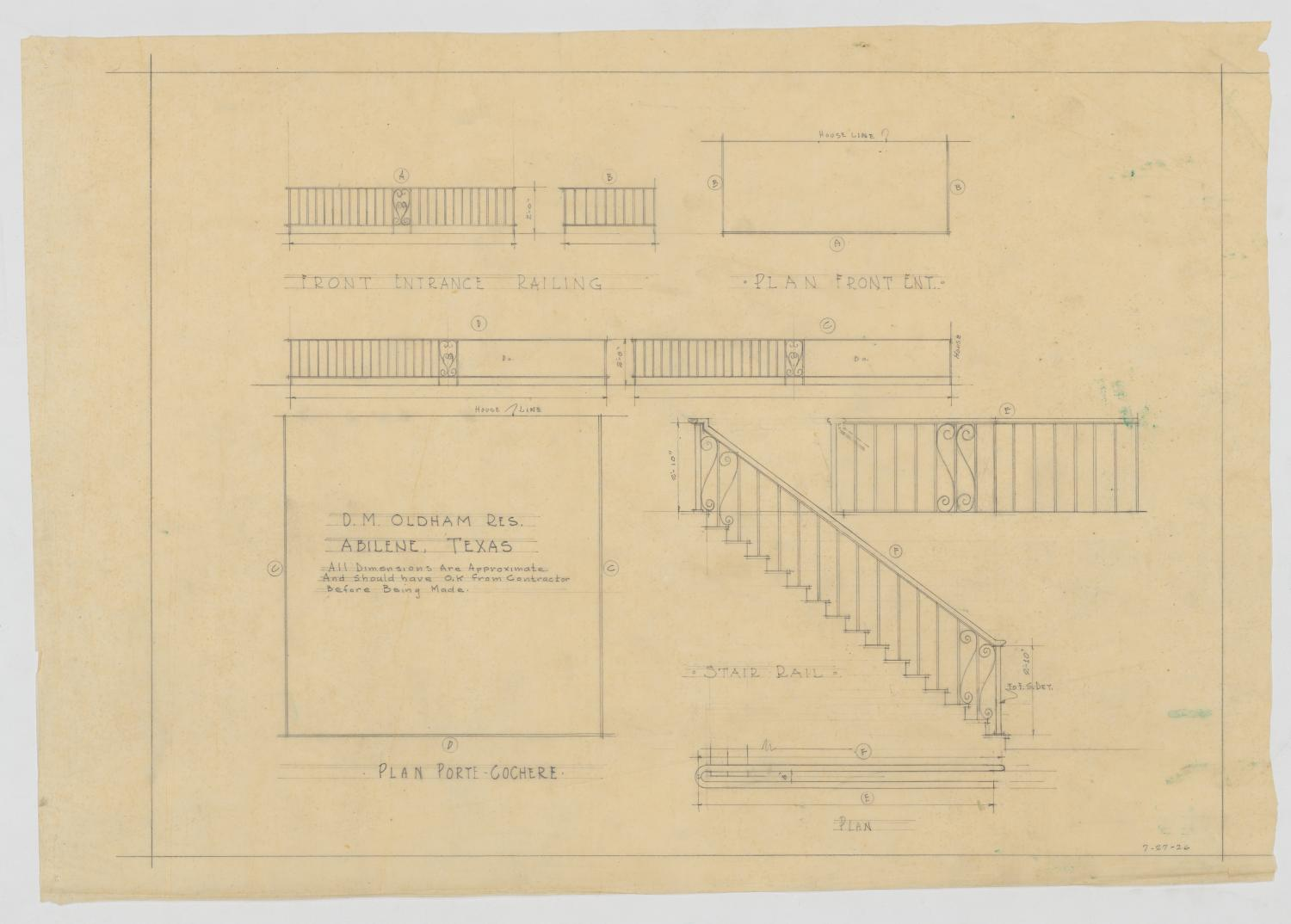 Oldham Residence, Abilene, Texas: Plans and Drawings                                                                                                      [Sequence #]: 1 of 2
