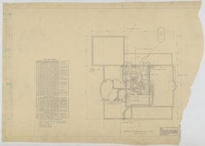 Primary view of object titled 'Sheppard Residence, Abilene, Texas: Basement and Foundation Plan'.