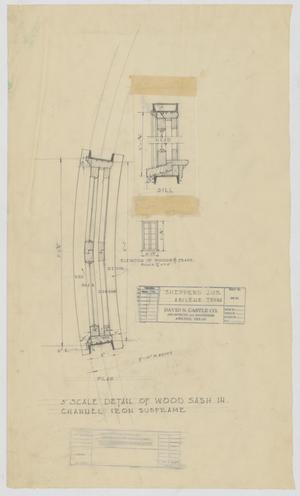 Primary view of object titled 'Sheppard Residence, Abilene, Texas: Wood Sash Details'.