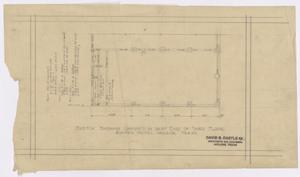 Primary view of object titled 'Wooten Hotel, Abilene, Texas: Alterations to the Third Level'.