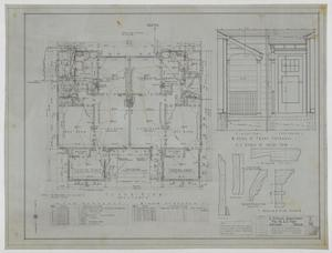 Primary view of object titled 'Pope Duplex, Abilene, Texas: Floor Plan, Details, and Schedules'.