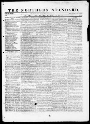 The Northern Standard. (Clarksville, Tex.), Vol. 1, No. 27, Ed. 1, Thursday, March 16, 1843