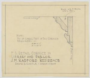 Primary view of object titled 'Radford Residence Addition, Abilene, Texas: Cornice'.